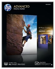 HP Advanced Glossy Photo Paper - Glossy photo paper - 130 x 180 mm - 25 sheet(s)